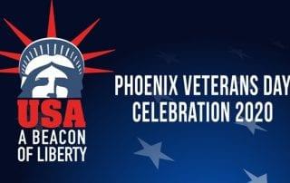 Logo with Phoenix Veterans Day Celebration